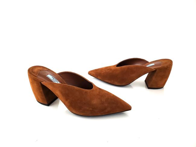 Item - Brown Nwob Suede Leather Pointed Toe Pumps Mules/Slides Size EU 39 (Approx. US 9) Regular (M, B)