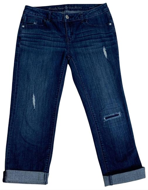 Item - Blue Simply Relaxed Boyfriend 2 Capri/Cropped Jeans Size 26 (2, XS)