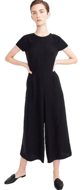 Item - Black Drapey Wrap-back Romper/Jumpsuit