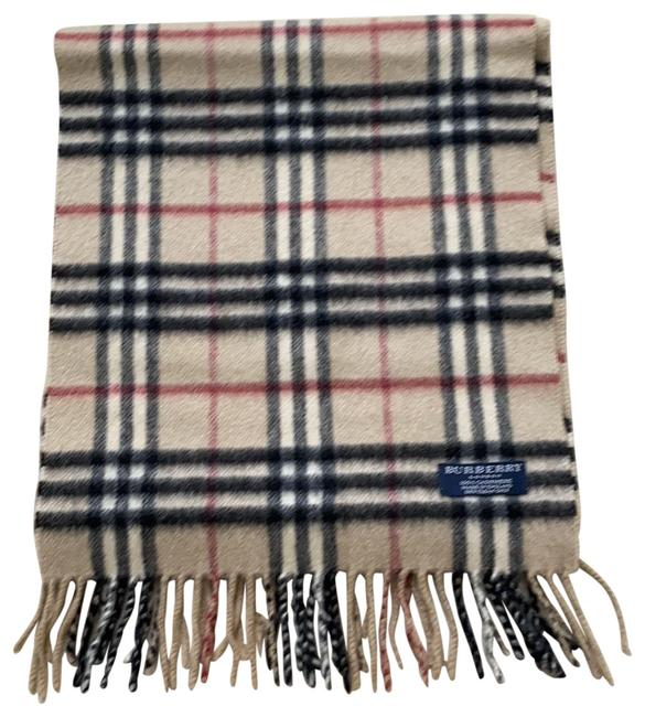 Item - Beige Classic Checked Scarf/Wrap