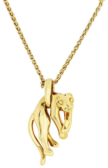 Item - 18k Yellow Gold Vintage Panthere Pendant Necklace