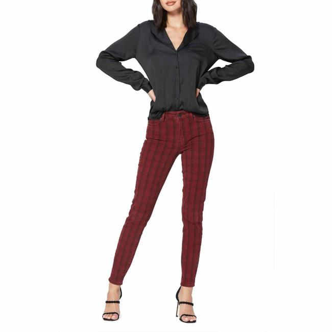 Item - Red/Black Plaid High Waist Ultra Skinny Jeans Size 0 (XS, 25)