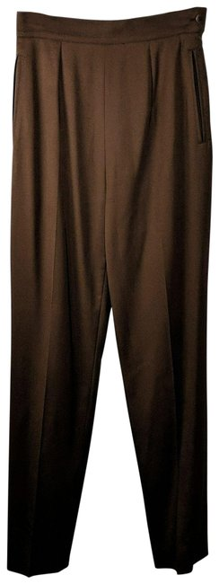 Item - Brown Tapered Wool Pants Size 6 (S, 28)