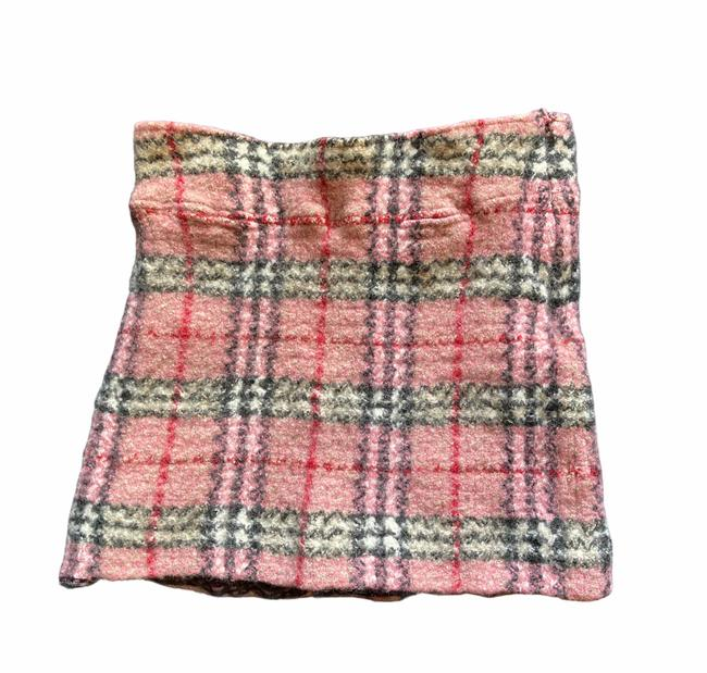 Item - Pink Red Black Cream White Nova Check Plaid Skirt Size 12 (L, 32, 33)