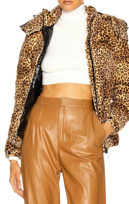 Item - Brown and Black Bady Leopard-print Down Coat Size 0 (XS)