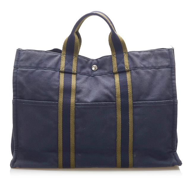 Item - Fourre Tout Mm Blue Canvas Tote