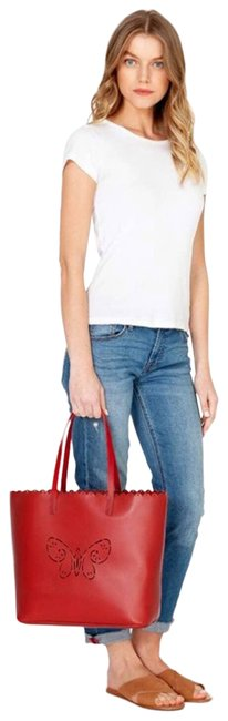 Item - Bag Butterfly Perforated Tippi Red Tote