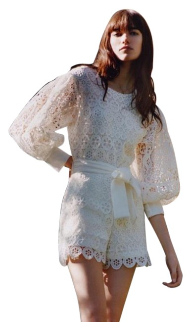 Item - White Guipure Lace Playsuit Romper/Jumpsuit