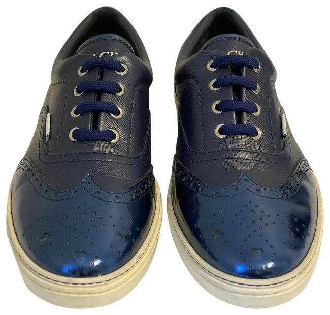 Item - Blue Men`s Brian Leather and Mirror Eur.43/Us10 Sneakers Size US 10 Regular (M, B)