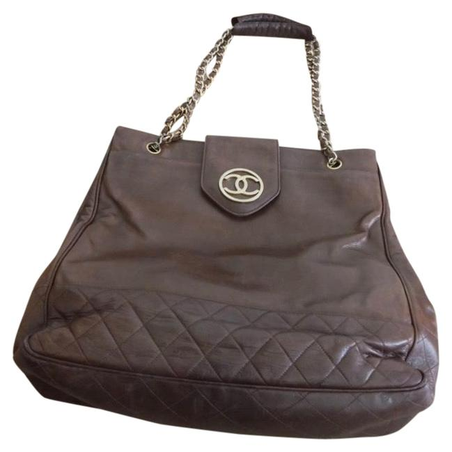 Chanel Matrasse Double Chain Serial Number Available Brown Lambskin Leather Shoulder Bag Chanel Matrasse Double Chain Serial Number Available Brown Lambskin Leather Shoulder Bag Image 1
