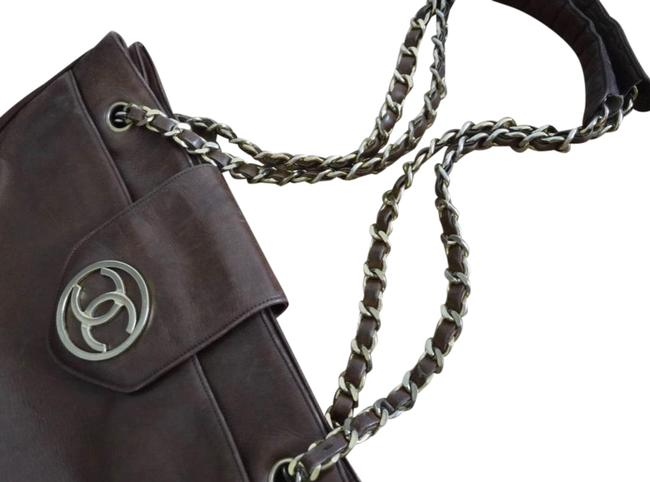 Chanel Matrasse Double Chain Serial Number Available Brown Lambskin Leather Shoulder Bag Chanel Matrasse Double Chain Serial Number Available Brown Lambskin Leather Shoulder Bag Image 2