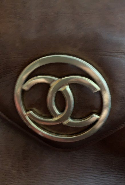 Chanel Matrasse Double Chain Serial Number Available Brown Lambskin Leather Shoulder Bag Chanel Matrasse Double Chain Serial Number Available Brown Lambskin Leather Shoulder Bag Image 11