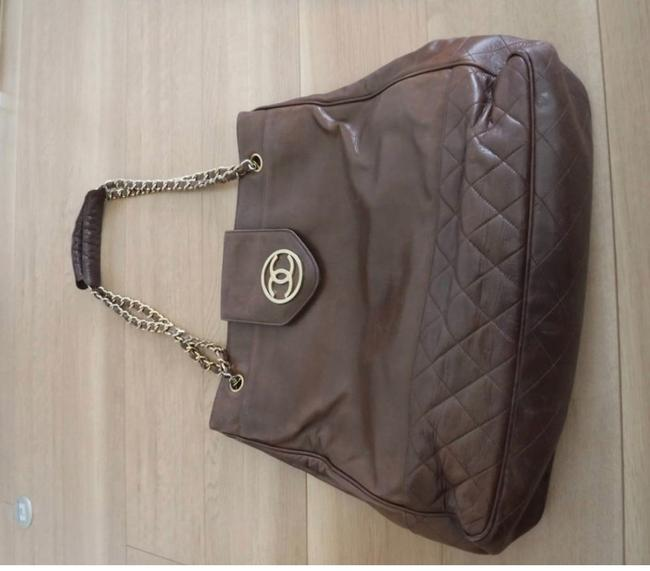 Chanel Matrasse Double Chain Serial Number Available Brown Lambskin Leather Shoulder Bag Chanel Matrasse Double Chain Serial Number Available Brown Lambskin Leather Shoulder Bag Image 3