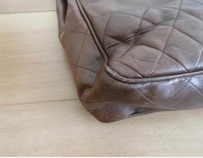 Chanel Matrasse Double Chain Serial Number Available Brown Lambskin Leather Shoulder Bag Chanel Matrasse Double Chain Serial Number Available Brown Lambskin Leather Shoulder Bag Image 7