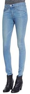 Rag & Bone High Rise Light Wash Skinny Jeans-Light Wash