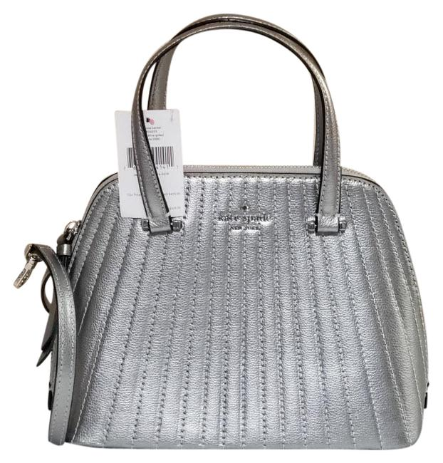 Item - Crossbody Patterson Drive Small Dome Quilted Silver Leather Satchel