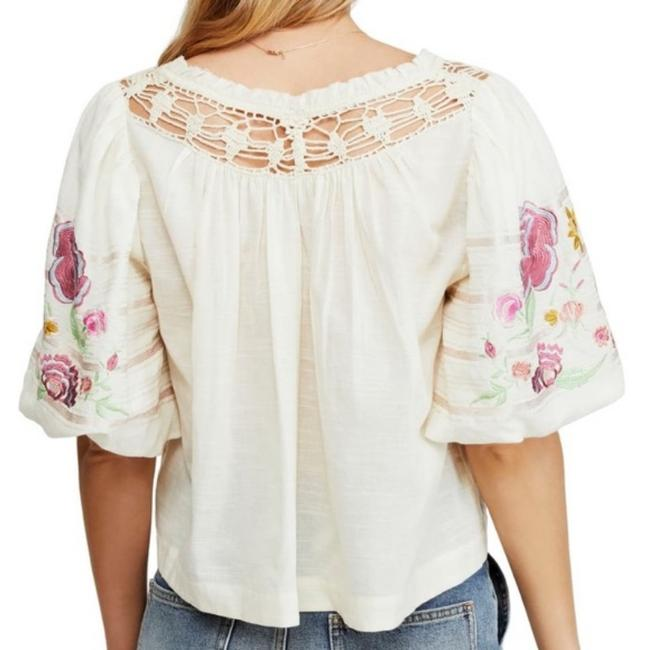 Free People Ivory Bohemia In Blouse Size 2 (XS) Free People Ivory Bohemia In Blouse Size 2 (XS) Image 6