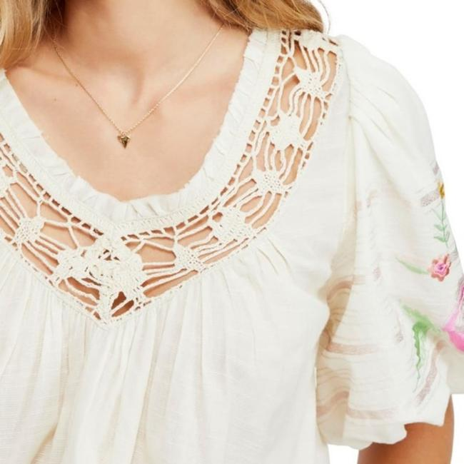 Free People Ivory Bohemia In Blouse Size 2 (XS) Free People Ivory Bohemia In Blouse Size 2 (XS) Image 8