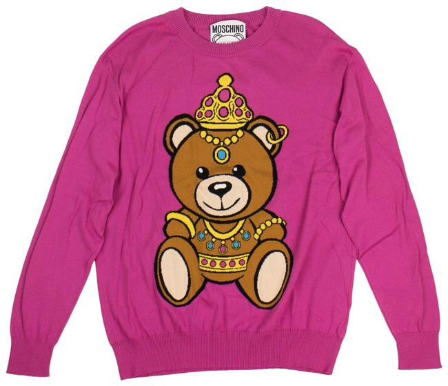 Item - Graphic Knit Size S Pink Sweater