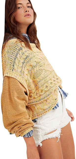 Item - Honey Comb Combo Cable Knit Mixed Media Style No. Ob1230305 Multi-color Sweater