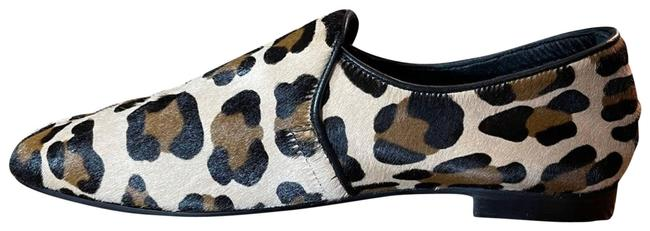 Item - Brown Revy Calf Hair Leopard Italian Loafer Flats Size US 9.5 Regular (M, B)