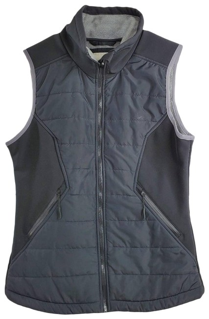 Bench Black Active Wear Fleece Lined Quilted Jacket Vest Size 8 (M) Bench Black Active Wear Fleece Lined Quilted Jacket Vest Size 8 (M) Image 1