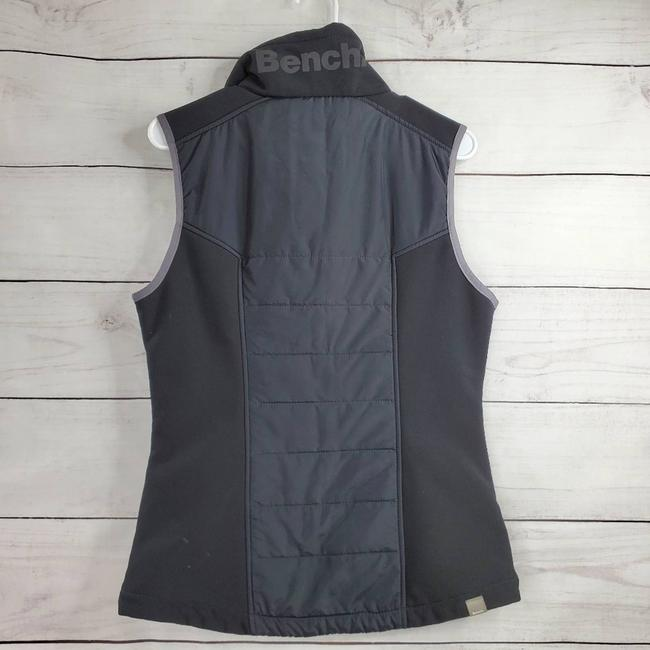 Bench Black Active Wear Fleece Lined Quilted Jacket Vest Size 8 (M) Bench Black Active Wear Fleece Lined Quilted Jacket Vest Size 8 (M) Image 2