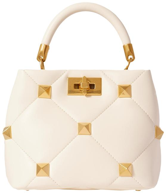 Item - Roman Garavani Stud Small Quilted Ivory Leather Tote