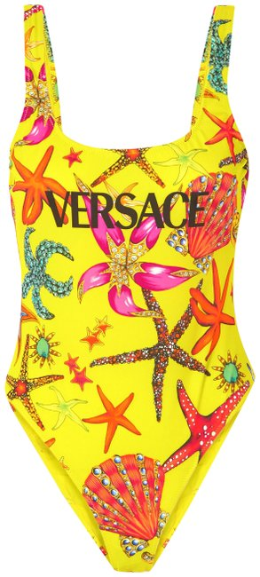 Item - Bright Yellow Printed Swimsuit One-piece Bathing Suit Size 8 (M)