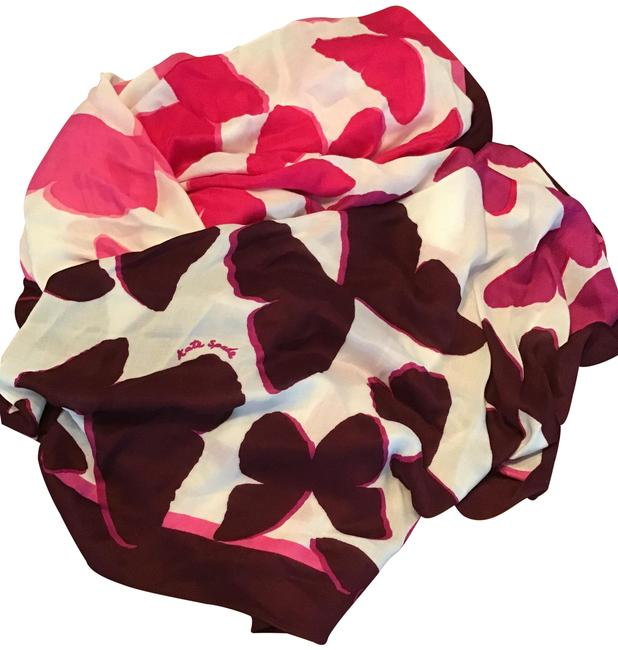 Item - Pink Maroon French Cream Festive Butterfly Oblong Scarf/Wrap