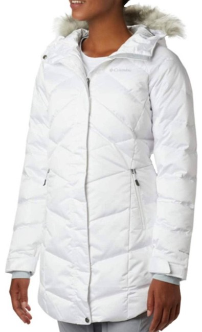 Item - White Lay D Down Ii Mid Jacket Large Coat Size 12 (L)
