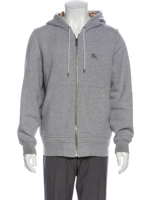 Item - Gray House Check Plaid Men's Hoodie Activewear Size 8 (M)