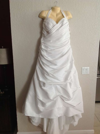 David's Bridal White Taffeta 9t9642 Sexy Wedding Dress Size 20 (Plus 1x)