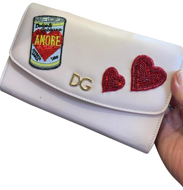 Item - Dolce & Gabbana Amore Patches Pink/Red/Gold Leather Cross Body Bag