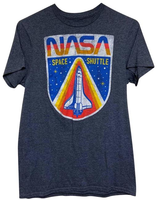 Item - Blue Nasa Space Shuttle Challenger Graphic T Tee Shirt Size 4 (S)