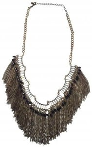 Free People Gold Fringe Necklace