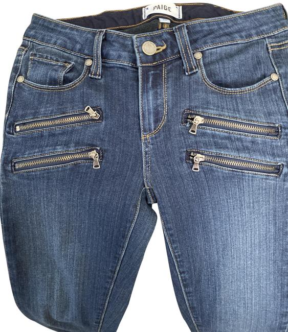 Item - Denim Blue Dark Rinse It's In The Photos Straight Leg Jeans Size 26 (2, XS)