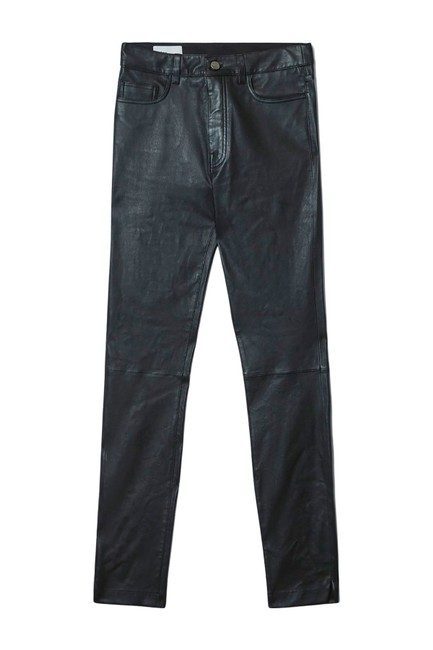 Item - Black High Rise Leather Stretch Skinny Jeans Size 6 (S, 28)