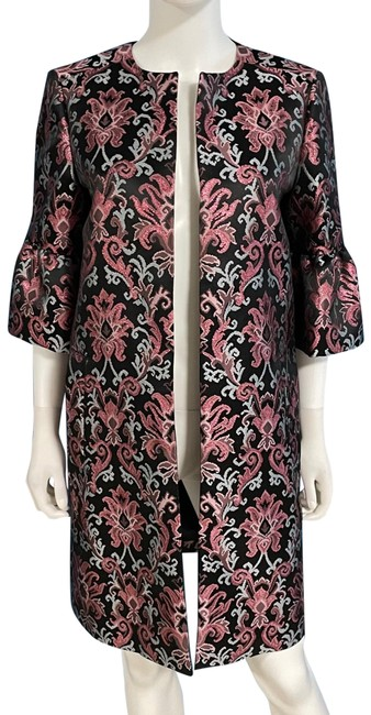Item - Pink Tapestry Jacquard Bell Sleeve Coat Jacket Size 2 (XS)