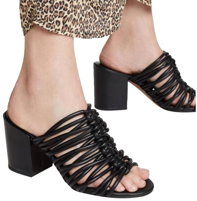 Item - Black Calanthe Strappy Mules Sandals Size US 8.5 Regular (M, B)