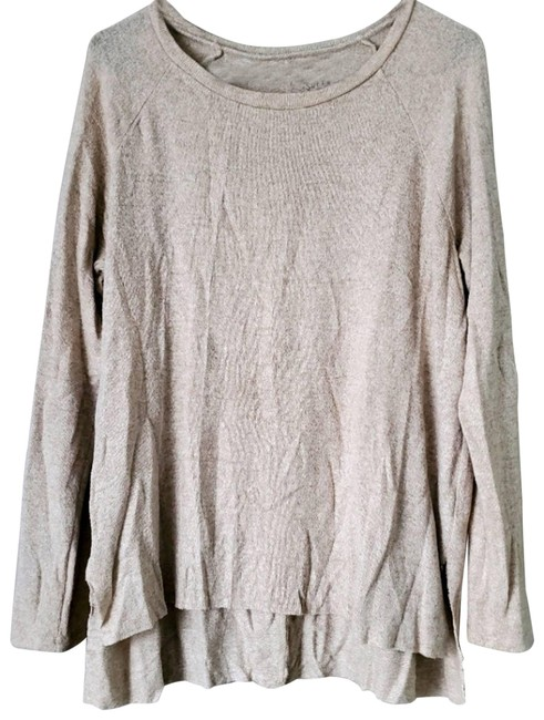 American Eagle Outfitters Cream Aeo Soft&sexy Plush High Low Oversized S Tee Shirt Size 4 (S) American Eagle Outfitters Cream Aeo Soft&sexy Plush High Low Oversized S Tee Shirt Size 4 (S) Image 1