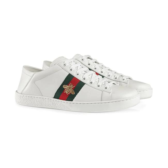 Item - White Green Red Gold Leather Ace Sneakers Size US 7 Regular (M, B)