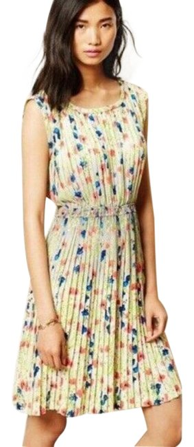 Item - Green Yoana Baraschi Womens Floral Meadowlight Short Casual Dress Size 12 (L)