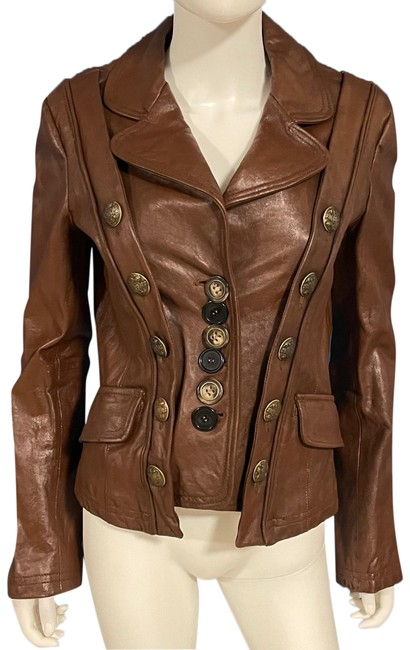 Item - Brown Military Jacket Size 8 (M)