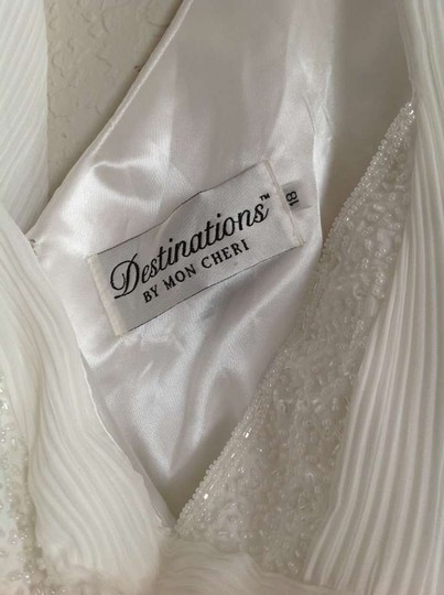 Mon Cheri White Chiffon Destination Wedding Dress Size 18 (XL, Plus 0x)