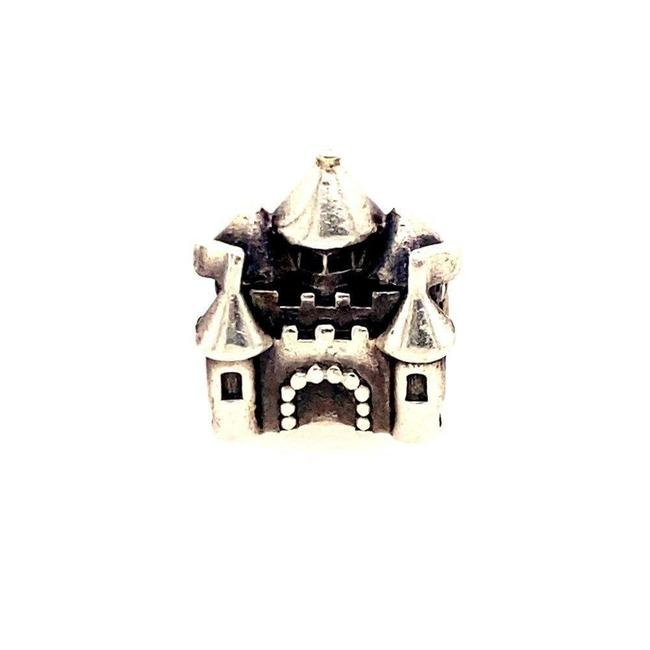 Item - Silver Two-tone Castle Charm
