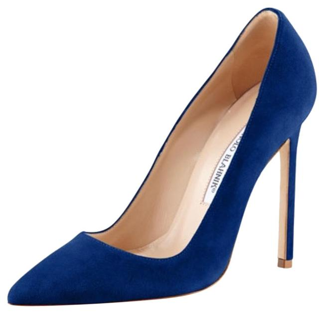 Item - Blue Bb Pointy Toe Suede Pumps Size US 8 Regular (M, B)