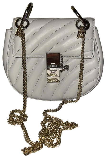 Item - Drew Shoulder Bijou Mini The Chain Strap Is Light Gold Because Chain Strap Got Loat So I Used But Grey/Silver Calfskin Leather Cross Body Bag
