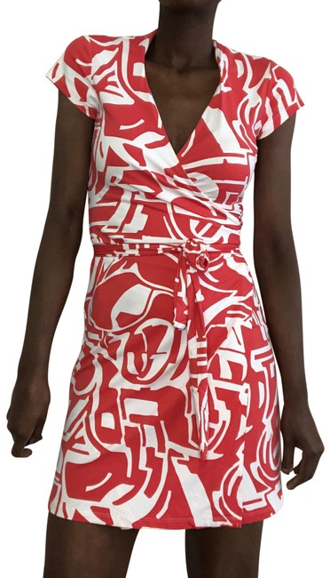 Item - Salmon Red Lila Mid-length Short Casual Dress Size 2 (XS)