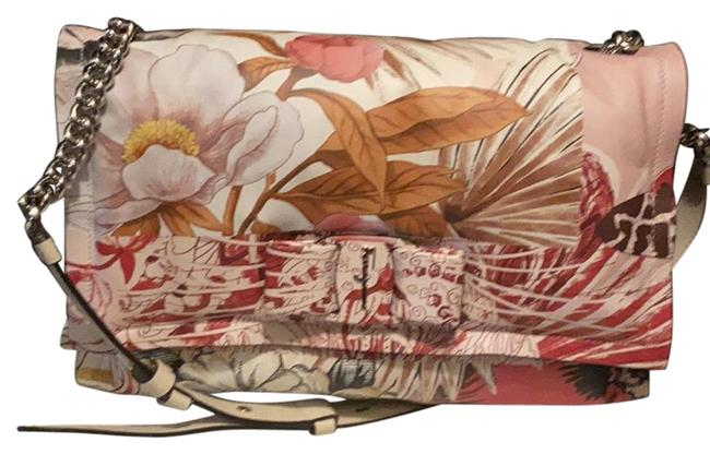 Item - Viva Bow Small Multi-color Floral Leather Clutch